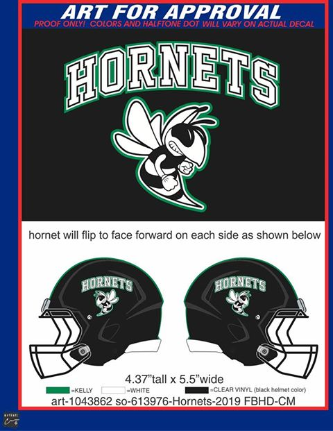 Hornets Full Size Decals