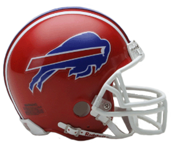 Buffalo Bills 1987 to 2001 Mini Throwback
