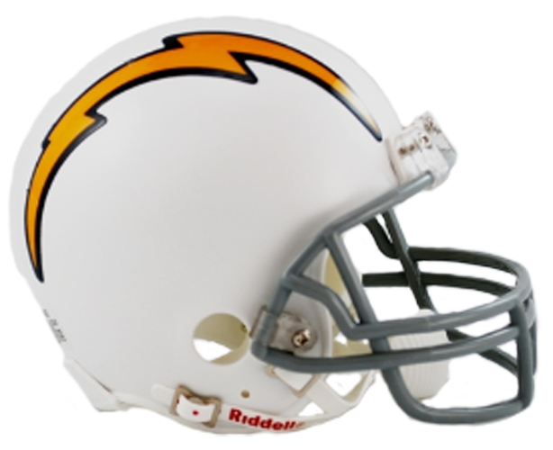 San Diego Chargers 1961 to 1973 Mini Throwback