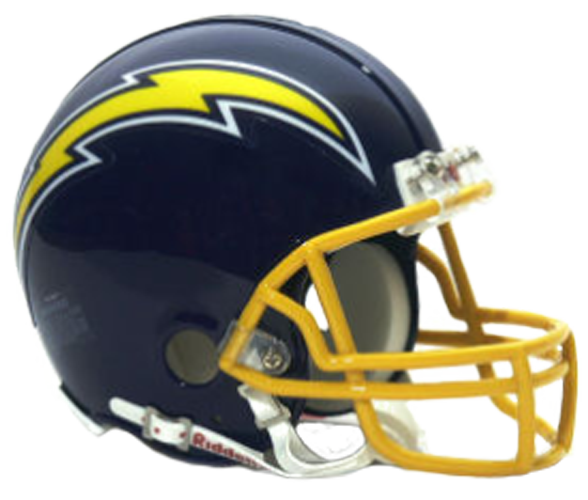 San Diego Chargers 1974 to 1987 Mini Throwback