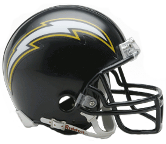 San Diego Chargers 1988 to 2006 Mini Throwback
