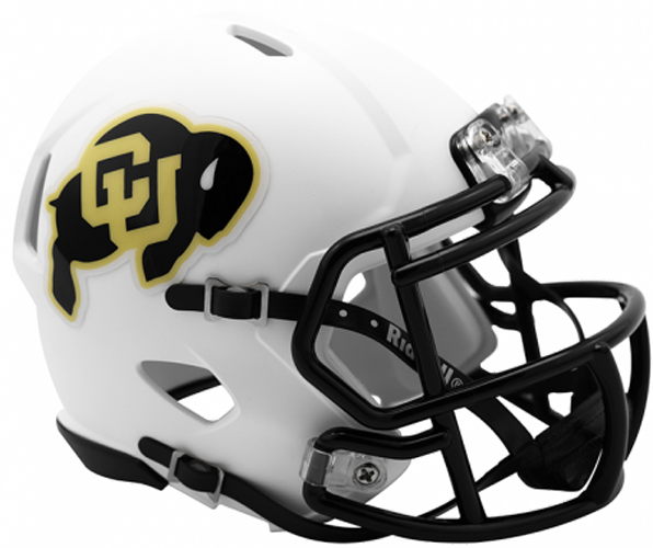 Colorado Buffaloes NCAA Mini Speed Matte White