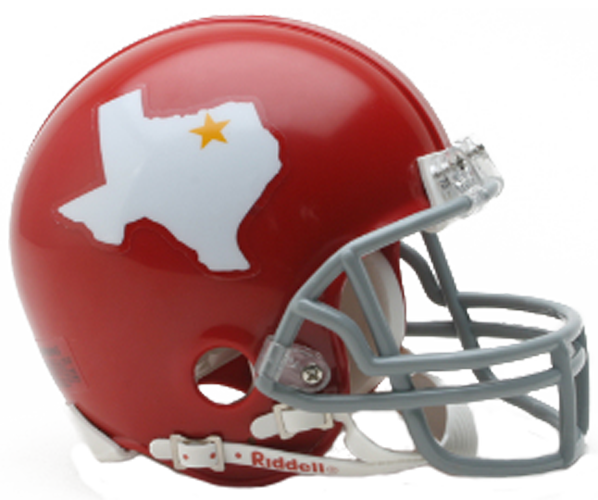 Dallas Texans 1960 to 1962 Mini Throwback
