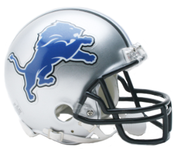 Detroit Lions 2009 to 2016 Mini Throwback