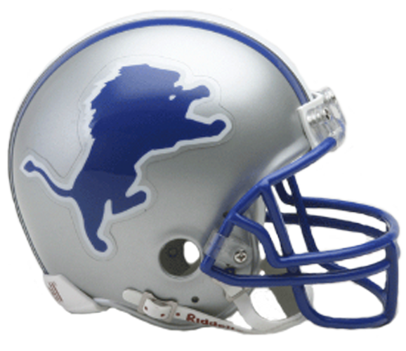 Detroit Lions 1983 to 2002 Mini Throwback