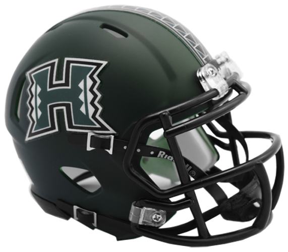 Hawaii Warriors NCAA Mini Speed Matte Green 2017 - Click Image to Close