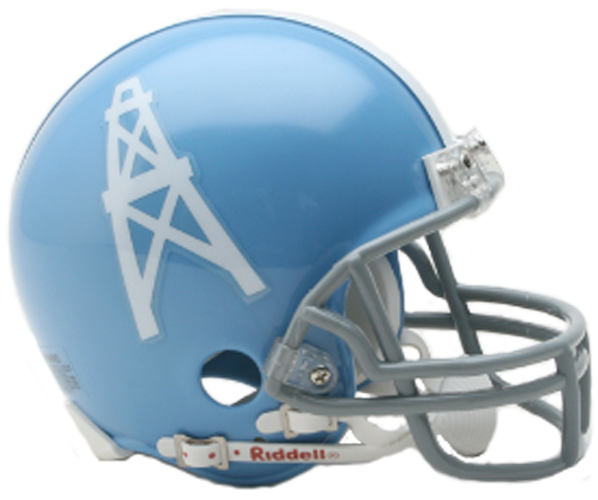 Houston Oilers 1960 to 1962 Mini Throwback