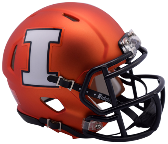 Illinois Fighting Illini NCAA Mini Speed Orange Pearl