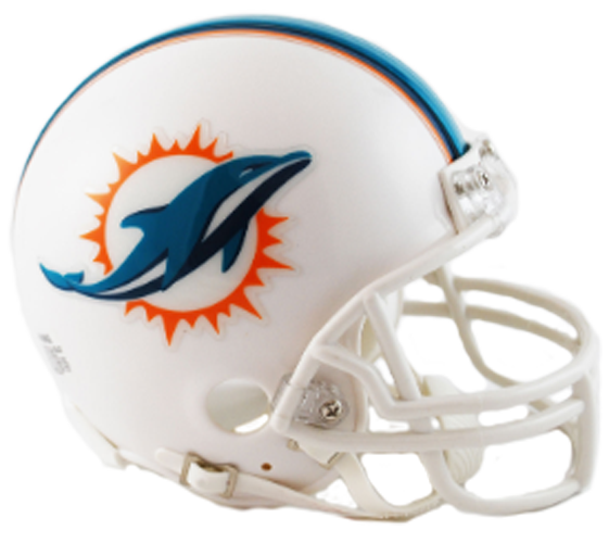 Miami Dolphins 2013 to 2017 Mini Throwback