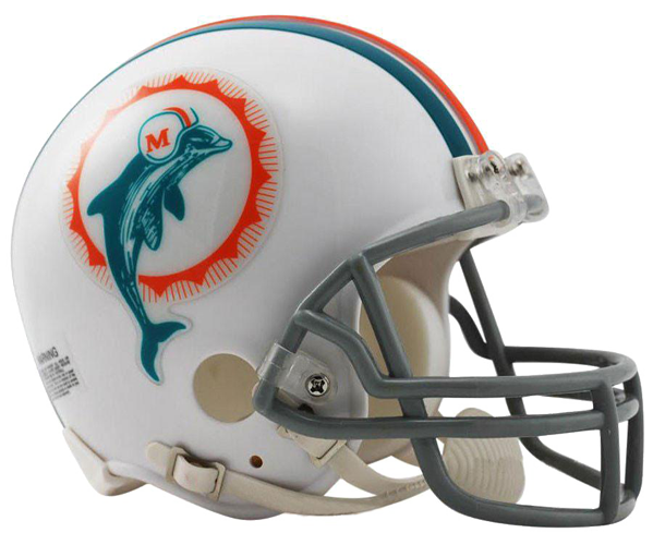 Miami Dolphins 1972 Mini Throwback