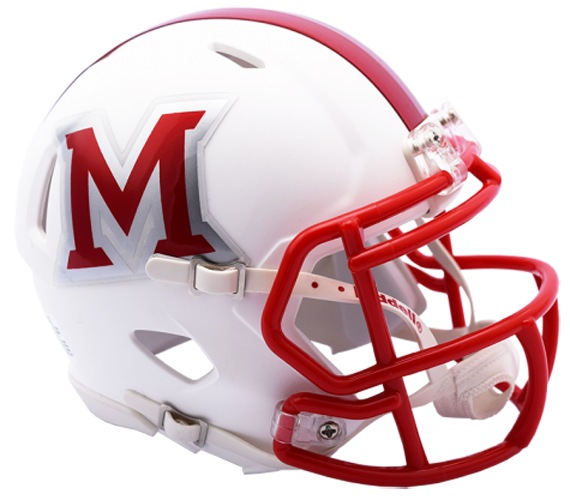 Miami of Ohio Redhawks NCAA Mini Speed Matte White