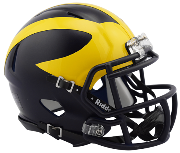 Michigan Wolverines NCAA Mini Speed 2016 Low Gloss Blue - Click Image to Close