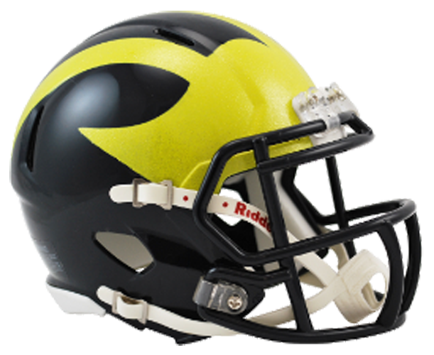 Michigan Wolverines NCAA Mini Speed PAINTED SHELL