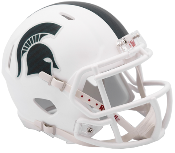 Michigan State Spartans NCAA Mini Speed Matte White