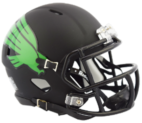 North Texas Mean Green NCAA Mini Speed Matte Black