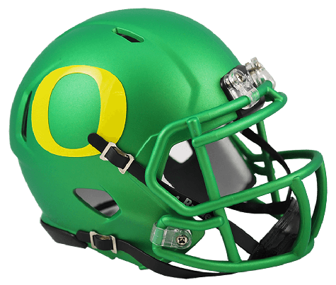 Oregon Ducks NCAA Mini Speed Apple Green