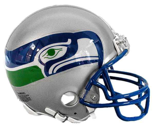 Seattle Seahawks 1983 to 2001 Mini Throwback