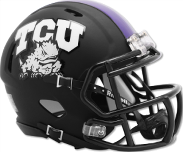 TCU Horned Frogs NCAA Mini Speed Matte Black