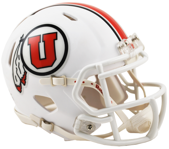 Utah Utes NCAA Mini Speed Matte White 2015
