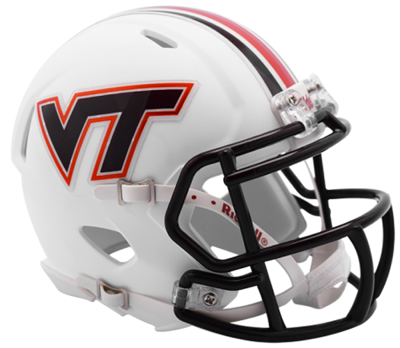 Virginia Tech Hokies NCAA Mini Speed Matte White