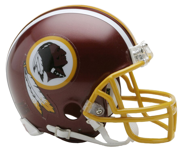 Washington Redskins 1972 to 1977 Mini Throwback