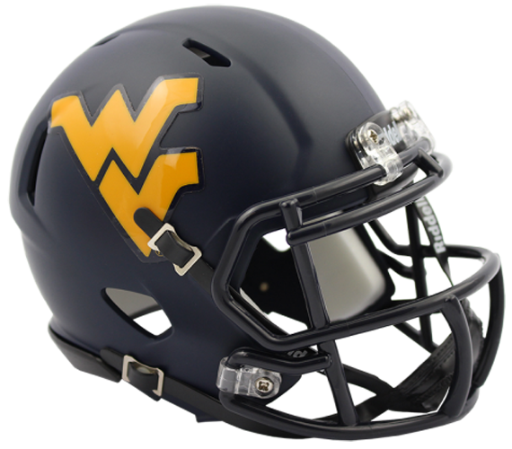West Virginia Mountaineers NCAA Mini Speed Satin Navy