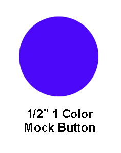 Baseball - Full Size Mock Button (SHEET OF 25)