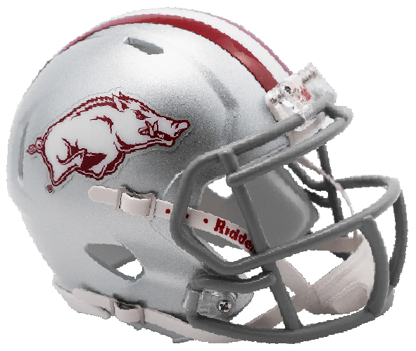 Arkansas Razorbacks NCAA Mini Speed 2017 Silver w/gray