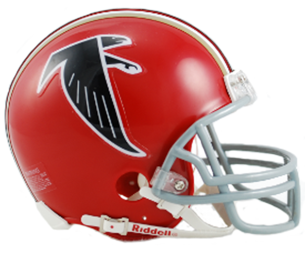 Atlanta Falcons 1966 to 1969 Mini Throwback