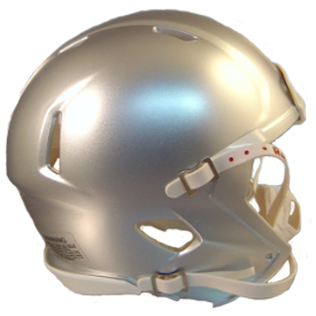 Mini Speed Football Helmet SHELL Silver