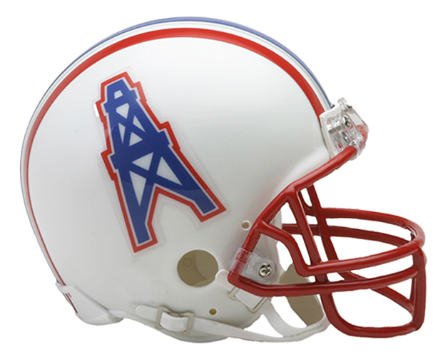 Houston Oilers 1981 to 1996 Mini Throwback