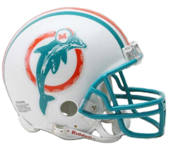 Miami Dolphins 1980 to 1996 Mini Throwback