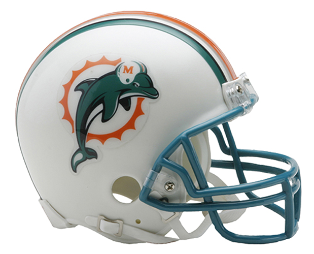Miami Dolphins 1997 to 2012 Mini Throwback