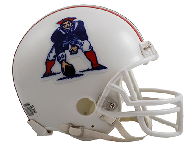 New England Patriots 1982 to 1989 Mini Throwback