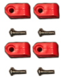 Mini Speed Clips (Scarlet) and Screws Set (4 each)