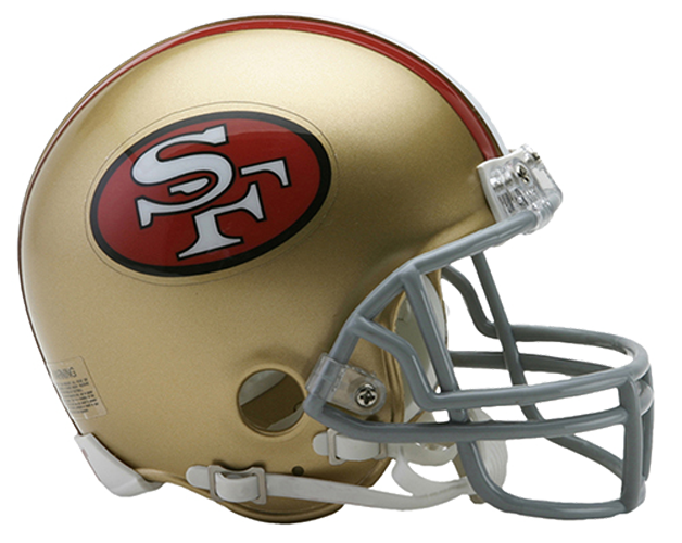 San Francisco 49ers 1964 to 1995 Mini Throwback