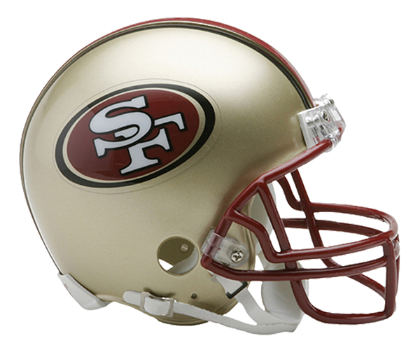 San Francisco 49ers 1996 to 2008 Mini Throwback